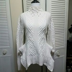 S BCBGMAXAZRIA Maylin Cableknit Sweater
